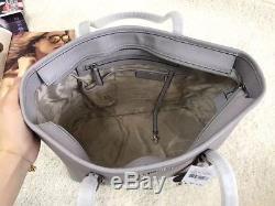 100% Michael Kors Jet Set Travel Saffiano LARGE Top Zip Tote Grey Boxed