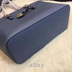 100% Michael Kors Jet Set Travel Top Zip Tote Cornflower Boxed