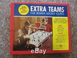 1960's Munro Table Top Hockey Boxed set of 10 Extra Teams. Seals, Flyers, etc