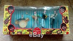1960s Beatle like Swingers Music Set Cake Top Figures Original Box withcelo tear