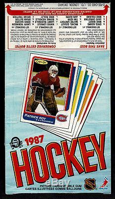 1986-87 OPeeChee (OPC) Box Set of Four, Nr-Mint, Gretzky, Lemieux. & Roy Tops