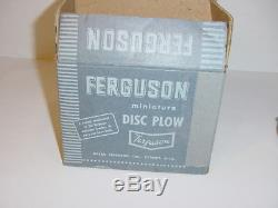 1/12 Ferguson TO-30 Tractor & Disc Plow Set by Topping (1953) WithBoxes