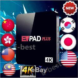 2018 EVPAD PLUS TOP Global Smart Media IPTV LIVE Box Asia Unblock Channels Set
