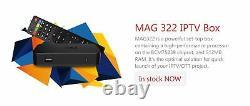 2020 Original MAG322W1 MAG 322 W1 IPTV Set Top Box Model Built in 150m wifi