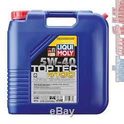 20L Liqui Moly 5W-40 TopTec 4100 Hochleistungs Synthese Leichtlauf-Motorenöl