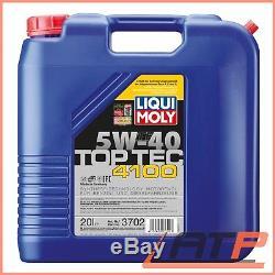 20 L Liter Liqui Moly Top Tec 4100 5w-40 Motor-öl Motoren-öl