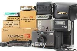 AMAZING! ALL TOP MINT IN BOX & DOUBLE TRRTH SET Contax T3 Black From Japan 541