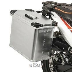 Alu Seitenkoffer Gobi 34l-34l Topcase 64l und Adapter für Kofferträger