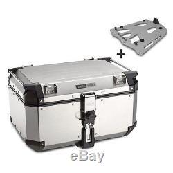 Alu-Top Box Set Givi BMW F 800 GS 08-16 OBK58A Monokey silver with alu carrier