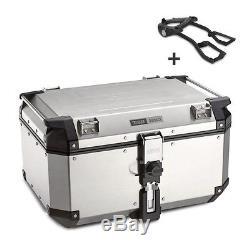 Alu-Top Box Set Givi Kawasaki Z 300 15-16 OBK58A Monokey silver