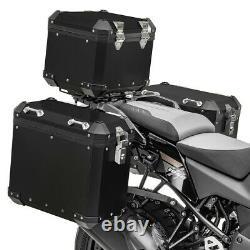 Aluminium Panniers Set + Top Box for BMW R 1250 GS / Adventure GX38-45 black