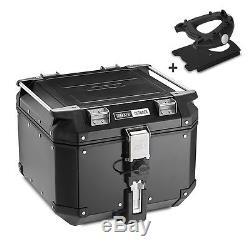 Aluminium Top Box Set Givi Triumph Tiger 1050 07-12 OBK42B Monokey black