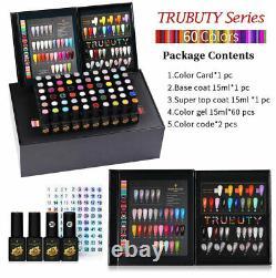 BORN PRETTY Pro 60Farben 15ml UV Gel Nagellack Set Top Base Gel withBox Nail Gift