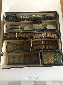 Bing Miniature Clockwork Table Top Railway set boxed