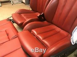 Bmw Oem F33 F83 M4 Convertible Front Rear Leather Seats Seat Set Door Panel Red