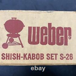 Brand New VTG Weber Shish Kebab Set S-26 with Box (Damaged) Kettle Grill Top