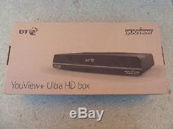 Bt Youview + Uhd Box Dtr T4000 4k Ultra Hd Box 1tb Freeview Set Top Box Record