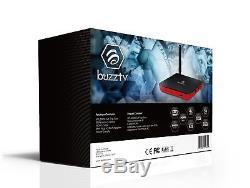 BuzzTV XPL 3000 Android IPTV OTT set-top HD 4K TV Box Sport Edition (Sporty Red)