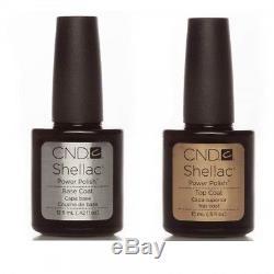 CND Shellac UV Nail Power Polish Top And Base Coat 12.5ml Large NEW IN BOX