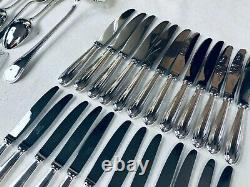 Christofle PERLES Flatware Table Dinner set Silver plate 73 pcs 12 Pers BOX TOP