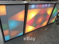Disco Light Box Front Screens Retro Set Of 3 With Led Top Panel For Name