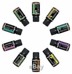 Essential Oils Set Top 10 Aromatherapy Premium Gift Kit 100% Pure & Therapeutic