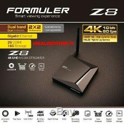 Formuler Z8 Iptv 4k Set-top Box Android 8 Oreo Ram 2go/16go