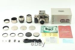 Full Set TOP MINT Box Contax G2 Rangefinder 28mm 45mm 90mm TLA200 From JAPAN