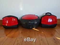 Genuine Triumph Tiger 1050 Hard Luggage Set Panniers Top Box Red No Keys