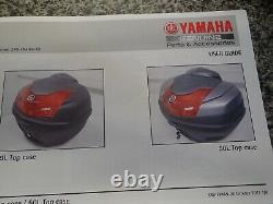 Genuine Yamaha 39 lt top box, lock set, backrest pad, only fit genuine rack