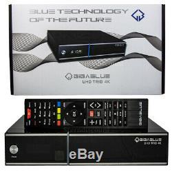 Gigablue UHD Trio 4k Receiver Combo Sat + Cable HD TV Set-Top-Box Linux E2
