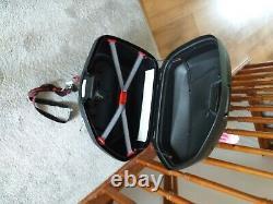 Givi V35 pannier set, + attached Givi tool box, and Givi mono key V47 top box