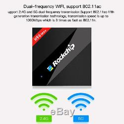 H96 MAX 4GB/32GB DDR3 RK3399 6 Core Smart TV Box Android 6.0 4K Set Top Box WiFi