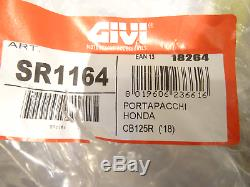 HONDA CB125R 2018 TOP BOX complete set GIVI B27NMAL CASE + SR1164 RACK + PLATE