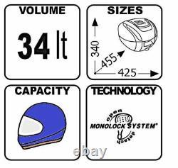 HONDA CB125R 2018 TOP BOX complete set GIVI B34 CASE B34N + SR1164 RACK + PLATE