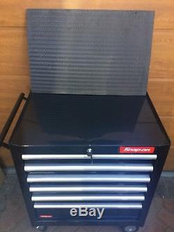 Halfords Industriial black Tool Box Chest Set Roll Cab and Top Box