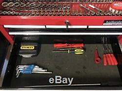 Halfords Professional Top Box & Roll Cab with Full Tool Set