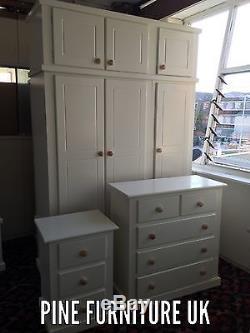 Handmade Aylesbury 3 Peice Bedroom Set With Extra Storage Top Box Triple