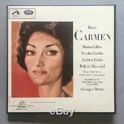 Hmv Angel Set Of Single Sided Test Pressings For The Callas Carmen Boxed Top Nm