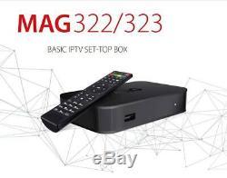 Infomir MAG322/323 IPTV/OTT Set-Top Box Linux 3.3 HEVC Video Audio Project New