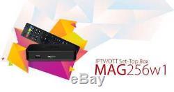 Infomir Mag 256 w1 IPTV/OTT Set-Top Box WiFi 2.4Ghz Built-in HDMI Streamer New