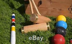 JAQUES TOP-OF-THE-RANGE HAND-MADE CROQUET SET With BOX Current model price £499