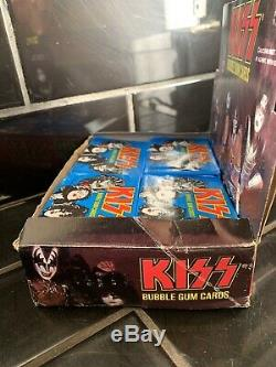 Kiss Set Of 36 X Bubble Gum Cards -1978 Vintage Counter Top Box Display Nos