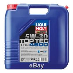 LIQUI MOLY 3757 Top Tec 4600 Motoröl SAE 5W-30 1 x 20 Liter für ALFA AUDI