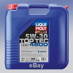 LIQUI MOLY 3757 Top Tec 4600 Motoröl SAE 5W-30 1 x 20 Liter für BMW CHEVROLET