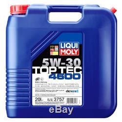 LIQUI MOLY Motoröl Top Tec 4600, 5W-30, 20-Liter Kanister Art. Nr. 3757