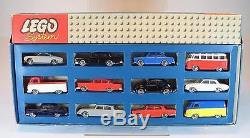 Lego System 1/87 Uralt Nr. 698 Auto Set 12 teilig Top Zustand in O-Box 60er Jh