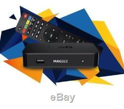 MAG322W1 IPTV Set Top Box With 12 Month Premium Gift