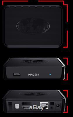 MAG 254w1 WLAN WiFi 150Mbs HDTV IPTV Streamer SET TOP BOX Multimedia Internet TV
