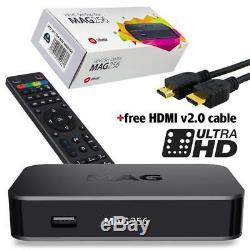 MAG 256 w2 Infomir IPTV/OTT Set-Top Box WiFi 2.4GHz+5GHz Built-in FREE UK CONVER